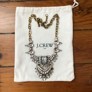 Glitzy J Crew Rhinestone Collar Necklace